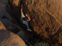 Tramo de roca para escalar