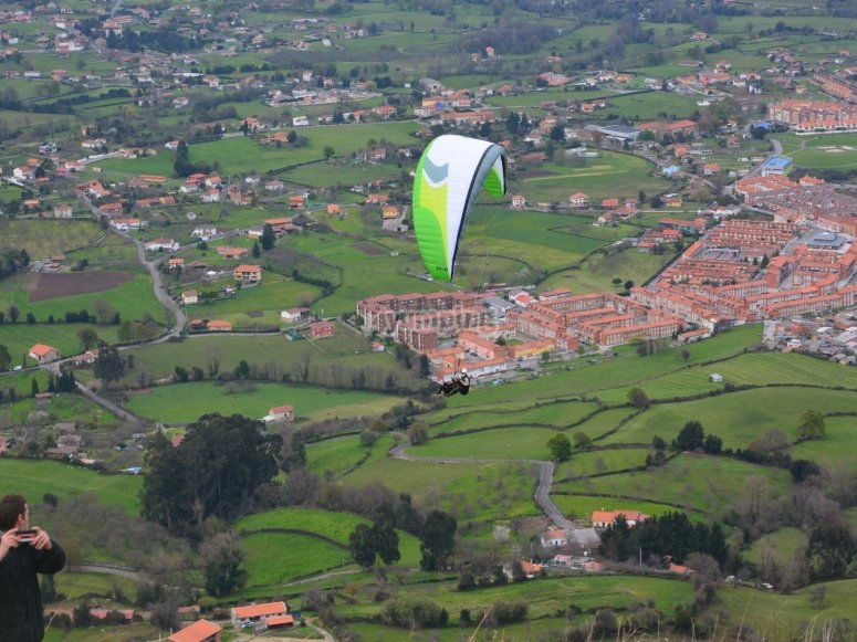 Flying over Asturias villages