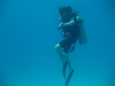 潜水在Marbella潜水,瓶子和潜水