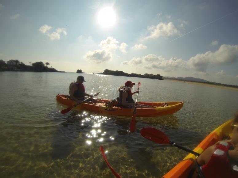 Kayaks en Noja
