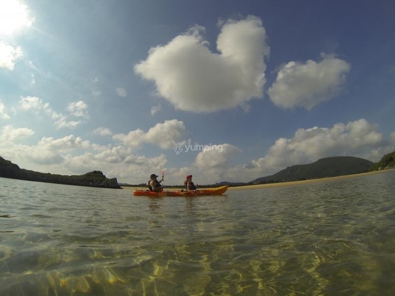 Percorso per kayak e snorkeling
