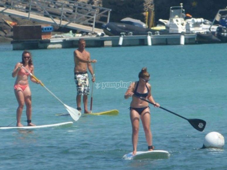 Juegos con paddle surf