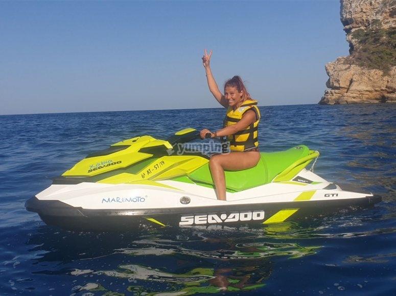 Salida en moto de agua a Cabo Roig
