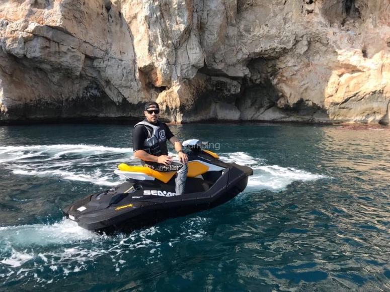 Excursión en moto de agua Dénia