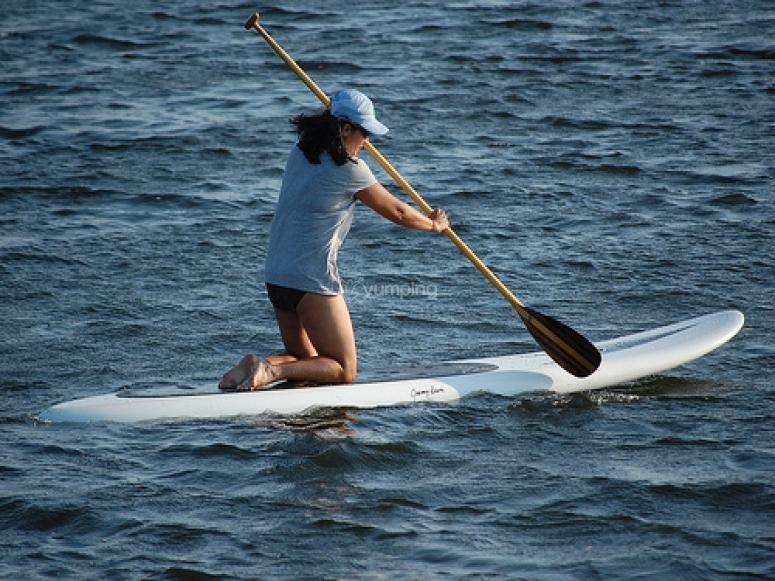 comenzando con el paddle surf
