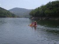 River descent in canoe
