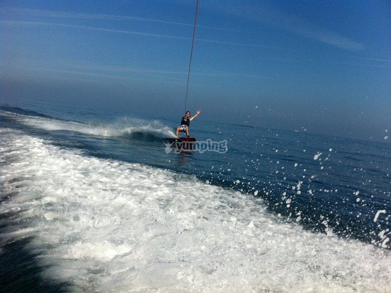 Sesion de wakeboard