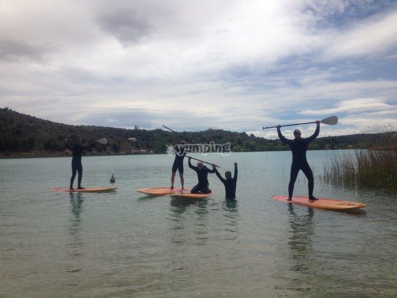 Disfrutando de un dia de paddle surf