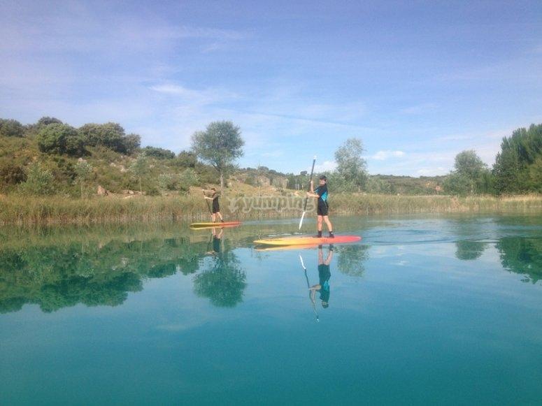 Paddle surf en Lagunas de Ruidera