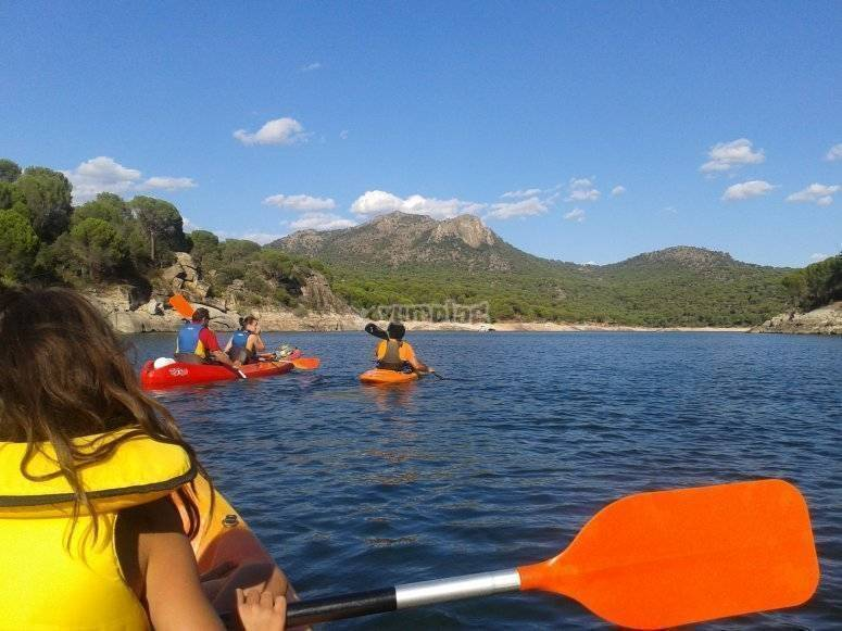 Kayaks y paella