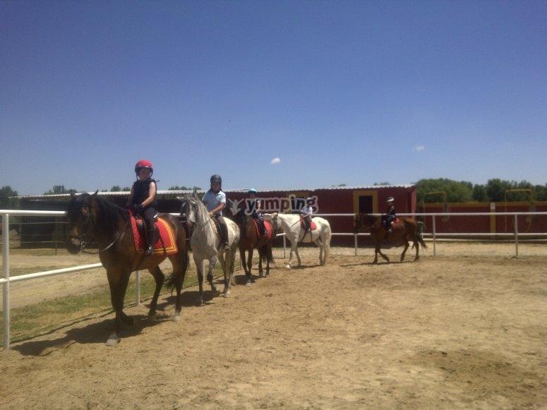 A caballo en San Sebastián de los Reyes