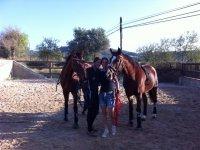 Conociendo a los caballos en el campamento