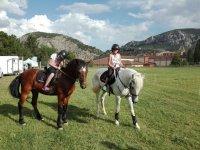 Clase de iniciacion equitacion en Betera