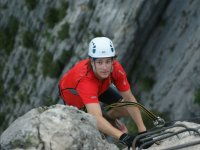 Reaching the top of the ferrata