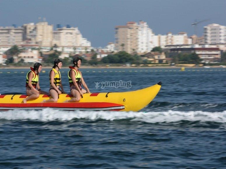 Banana boat trip in Murcia