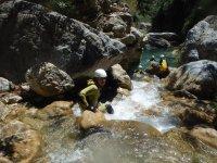 Descenso de barranco del río Verde, mitad, 3h30min