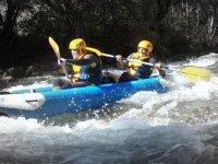 Whitewater raft canoe