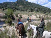 cruzando el río yeguas