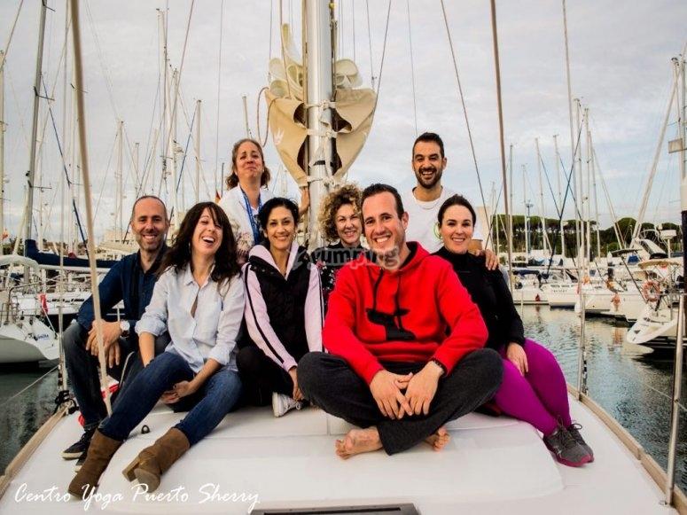 Disfrutando con amigos en velero por Cádiz