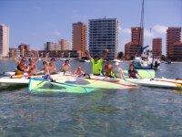 Water sports in the Mediterranean