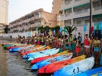 Préparé pour la route du kayak