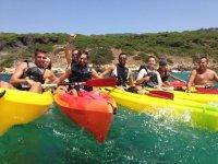 Rutas en canoa con amigos
