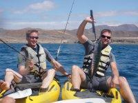 excursion de kayak pesca