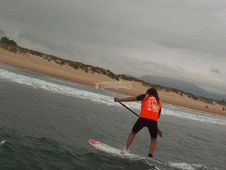 curso sup olas paddle surf somo