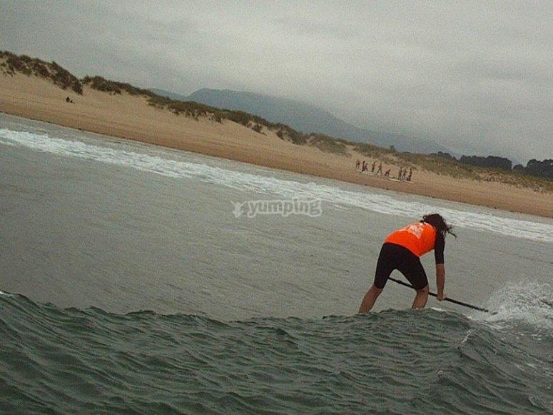 curso sup olas paddle surf