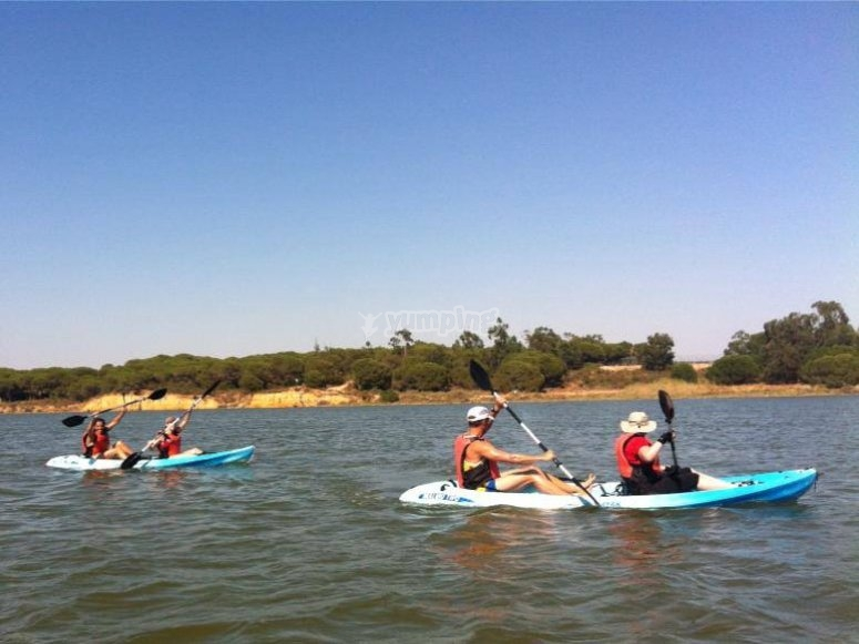 grupos de kayak