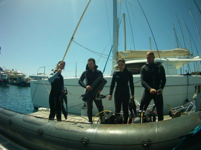 PADI潜水长在拉斯加勒塔斯特内里费岛
