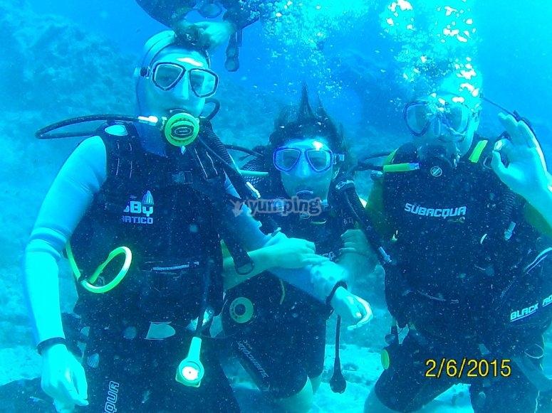 Buceando en Tenerife