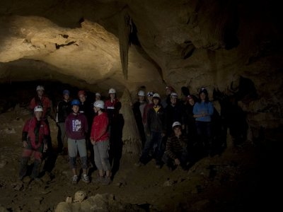 Espeleología en el Geoparque de la Costa Vasca