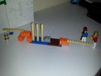 Barca hecha con lego