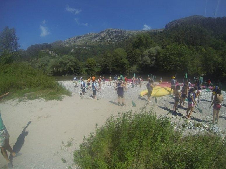 canoa rio Deva