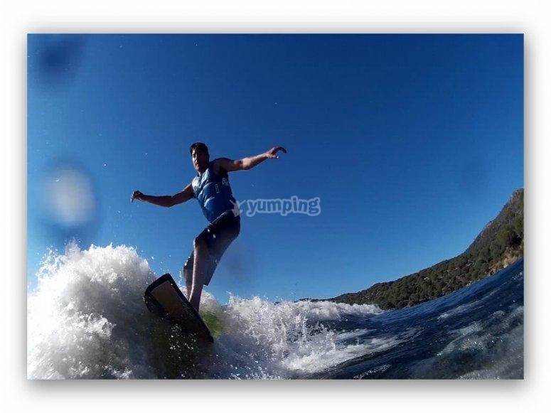 Surf pelayos de la presa