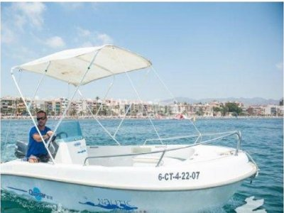 Boat rental (no license) in Mazarrón, 4 hours