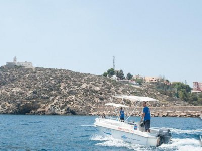 Boat rental (no license) in Mazarrón, 2 hours