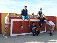 On the burladero