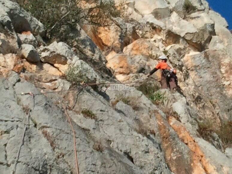 Primeros pasos en la escalada clasica