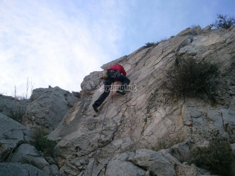 Bautizo de escalada en Banyoles