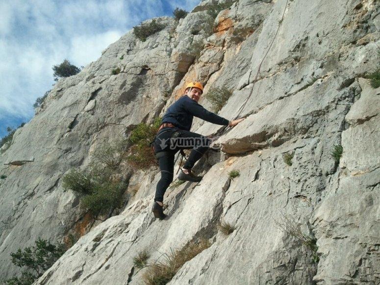 Sesion de escalada en Banyoles