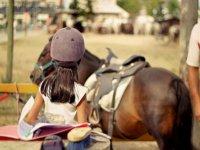 Pony ride for children