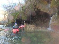 Kayak en el interior del rio