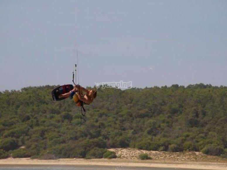 Improvement in Kitesurfing