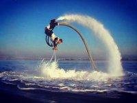 Amazing somersaults on flyboard Tarragona