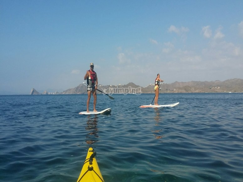 Stand up paddle surfing in Águilas