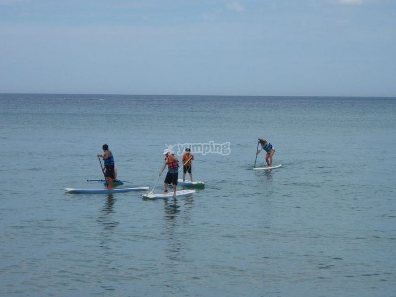 Stand up paddle surfing in Murcia