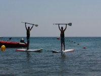 Stand up paddle surfing in Playa Calabardina