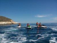 Jet ski ride in Tarragona